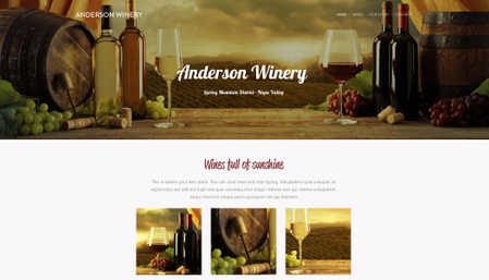 Template: Anderson Winery