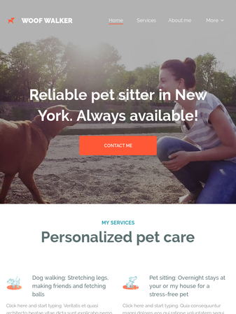 Let This Cute Design Help You Attract New Clients For Your Dog Walking Or Pet Caring Business Make The Best Of Website Structure We Prepared And Give