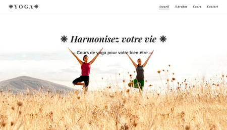 Template Studio de yoga