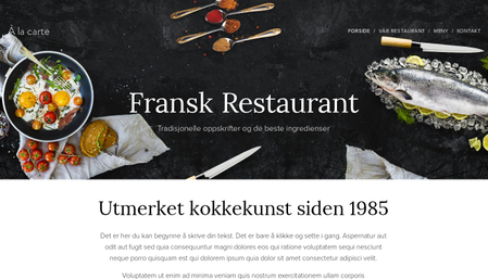Mal for fransk restaurant