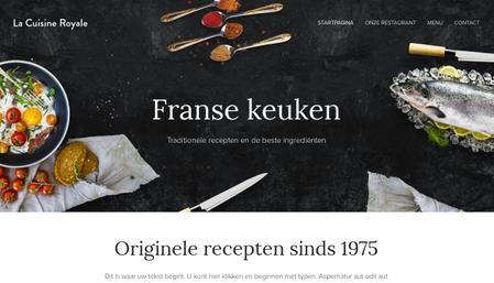 Frans restaurant sjabloon