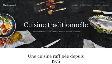 Template Cuisine traditionnelle