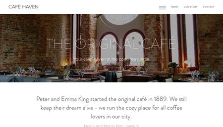 Template: Café Haven