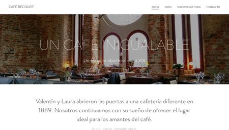 Plantilla - Café Bécquer