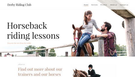 Riding school Template