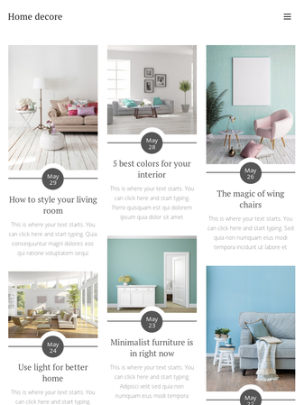 Bloggers With A Knack For Home Decor And Interior Design Youre Going To Love This Template Make Your Blog Posts The Center Of Attention Our Brand