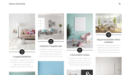 Stílusos dekorációk blog sablon