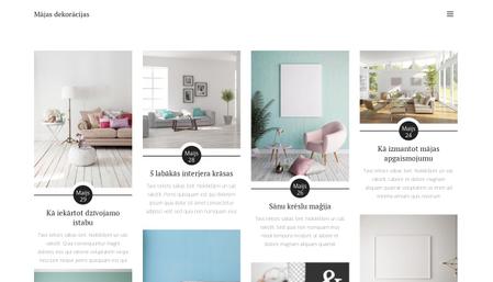 Mājas dekorāciju bloga veidne