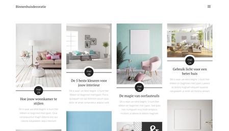 Interieur Decoratie Blog Sjabloon