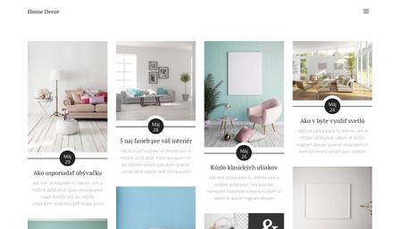 Šablóna Blog Home Decor