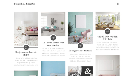 Interieur Decoratie Blog Sjabloon