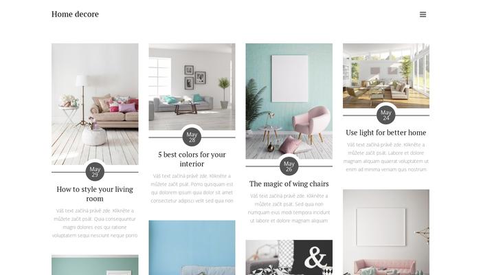 Home Decor Blog Template Website Template Webnode