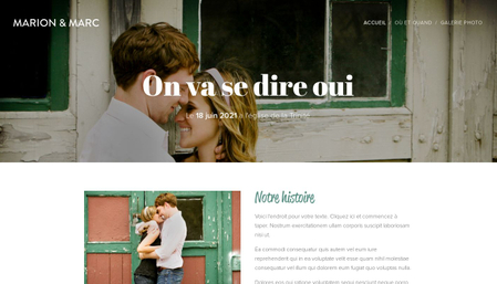Template Mariage