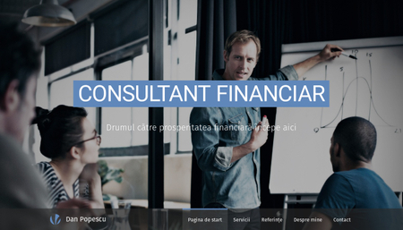 Șablon: Consultant financiar