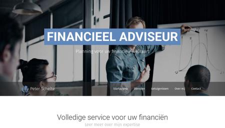Financieel adviseur sjabloon