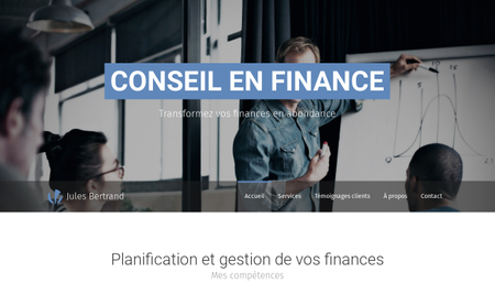 Template Conseil en finance