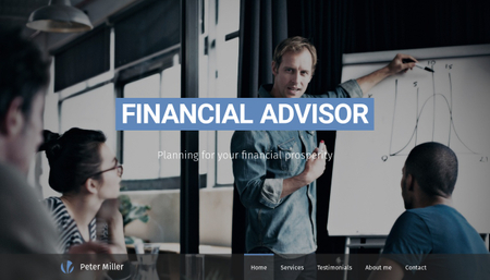 Financial Advisor Template