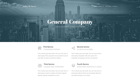 Our Company Template
