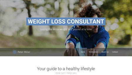 Weight Loss Consultant Template