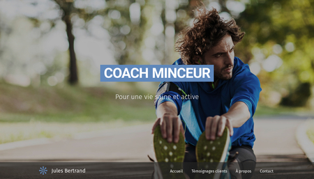 Template Coach minceur