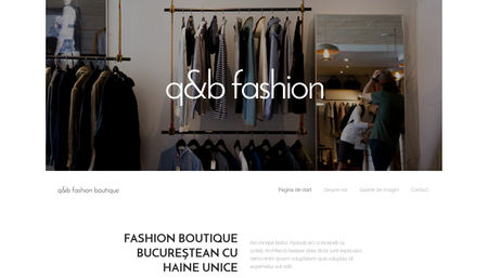 Șablon: Fashion boutique