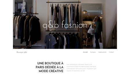 Template Boutique de mode