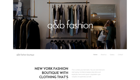 Fashion boutique Template