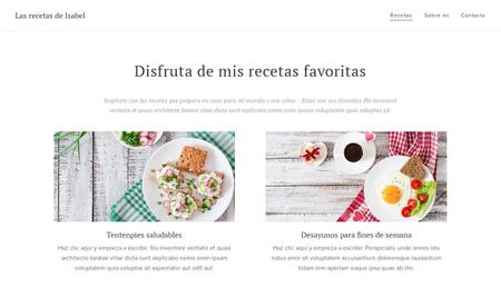 Plantilla para web de cocina