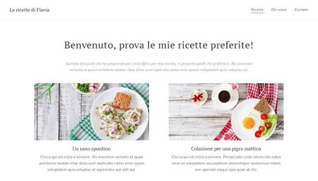 Modello - Ricette e cucina