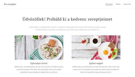 Receptek weboldal sablon
