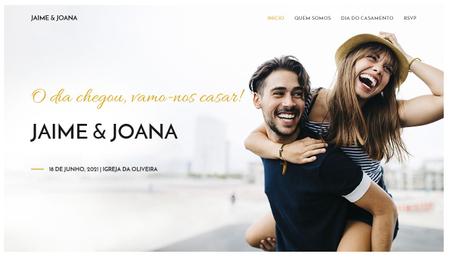 Modelo Website de Casamento