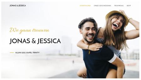 Huwelijkswebsite sjabloon