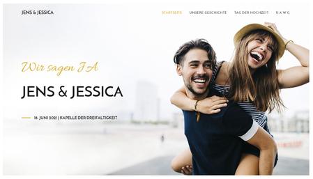Vorlage Hochzeitswebseite