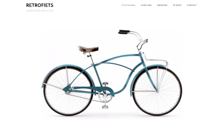 Retrofiets Sjabloon