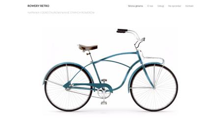 Szablon dla wielbicieli starych rowerów