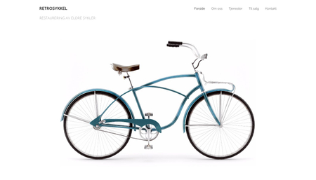 Retro sykkel Mal