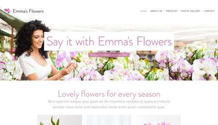 Template: Emma's Flowers