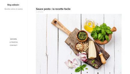Template blog culinaire