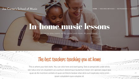 Music School Template