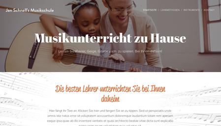 Vorlage Musikschule