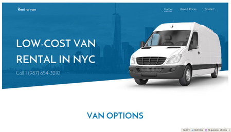Van Rental Template