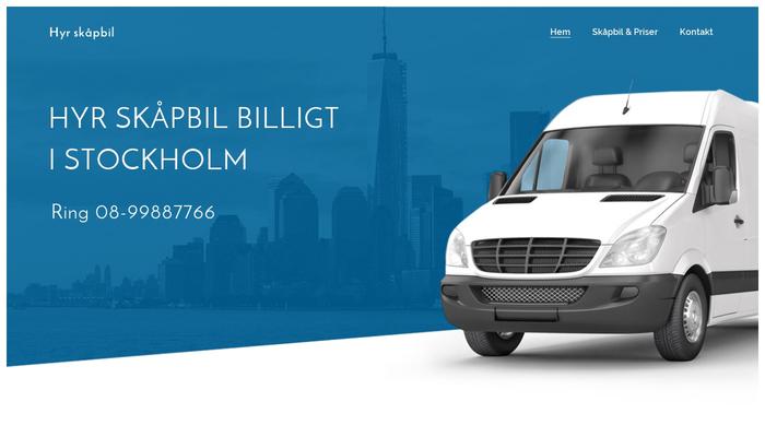 Hyra skåpbil stockholm