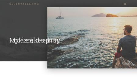 Šablona: Cestovatelský video blog
