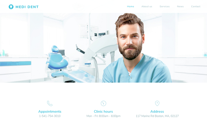 Dentist Template - Website template - Webnode