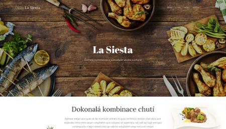 Šablona Restaurace La Siesta