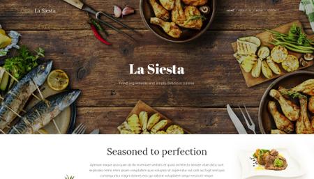 Template La Siesta Restaurant