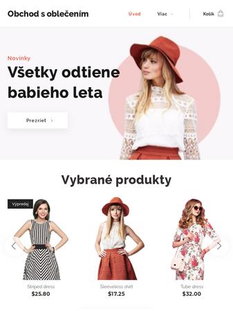 e8803e05c S touto e-shopovou šablónou bude predaj oblečenia, doplnkov alebo topánok  cez internet úplná hračka. Roztrieďte vaše produkty do kolekcií a ukážte ...