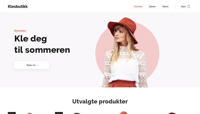 65367d51 Denne nettbutikk malen vil hjelpe deg å selge klær, tilbehør og sko på  nett. Organiser produktene dine i kolleksjoner og la dine besøkende bla  gjennom de ...