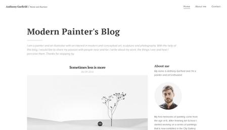 Art Blog Template