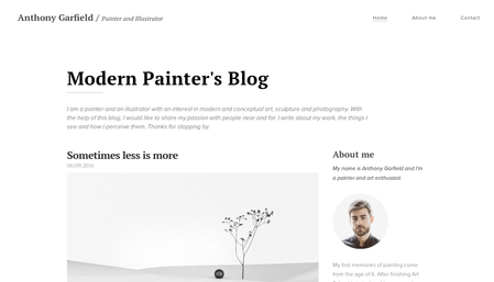 Art Blog Template
